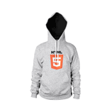 HEATHER GREY HOODIE Front