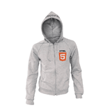 Zippered Hoodie Front